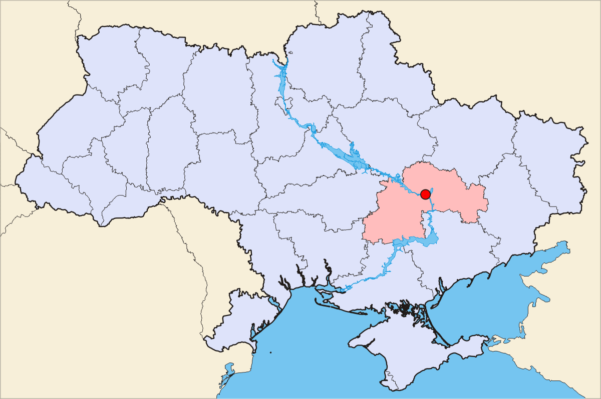 Dnepropetrovsk map