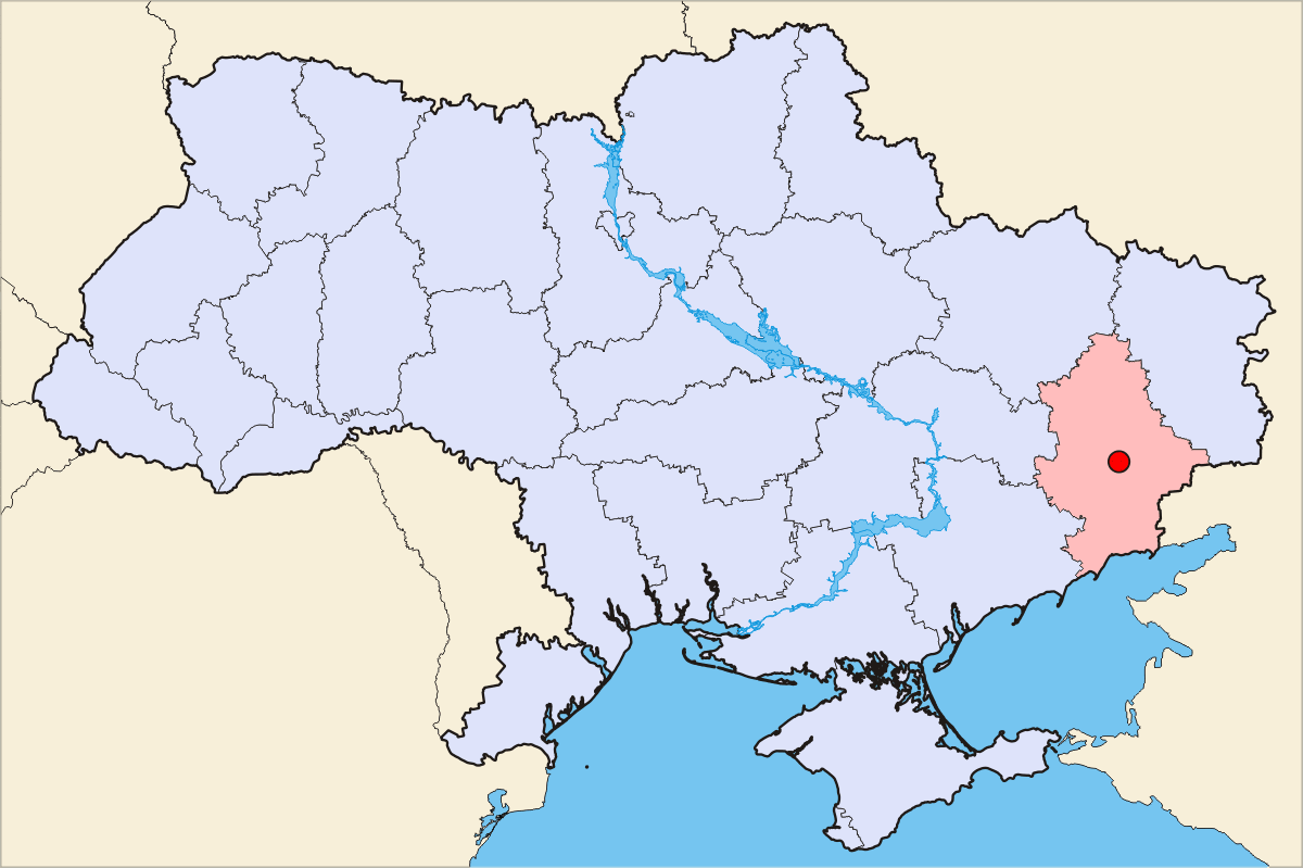 Donetsk map