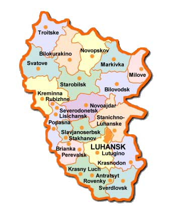 Luhansk map